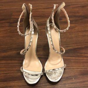 Silver heels ( 4.5 inch heels)
